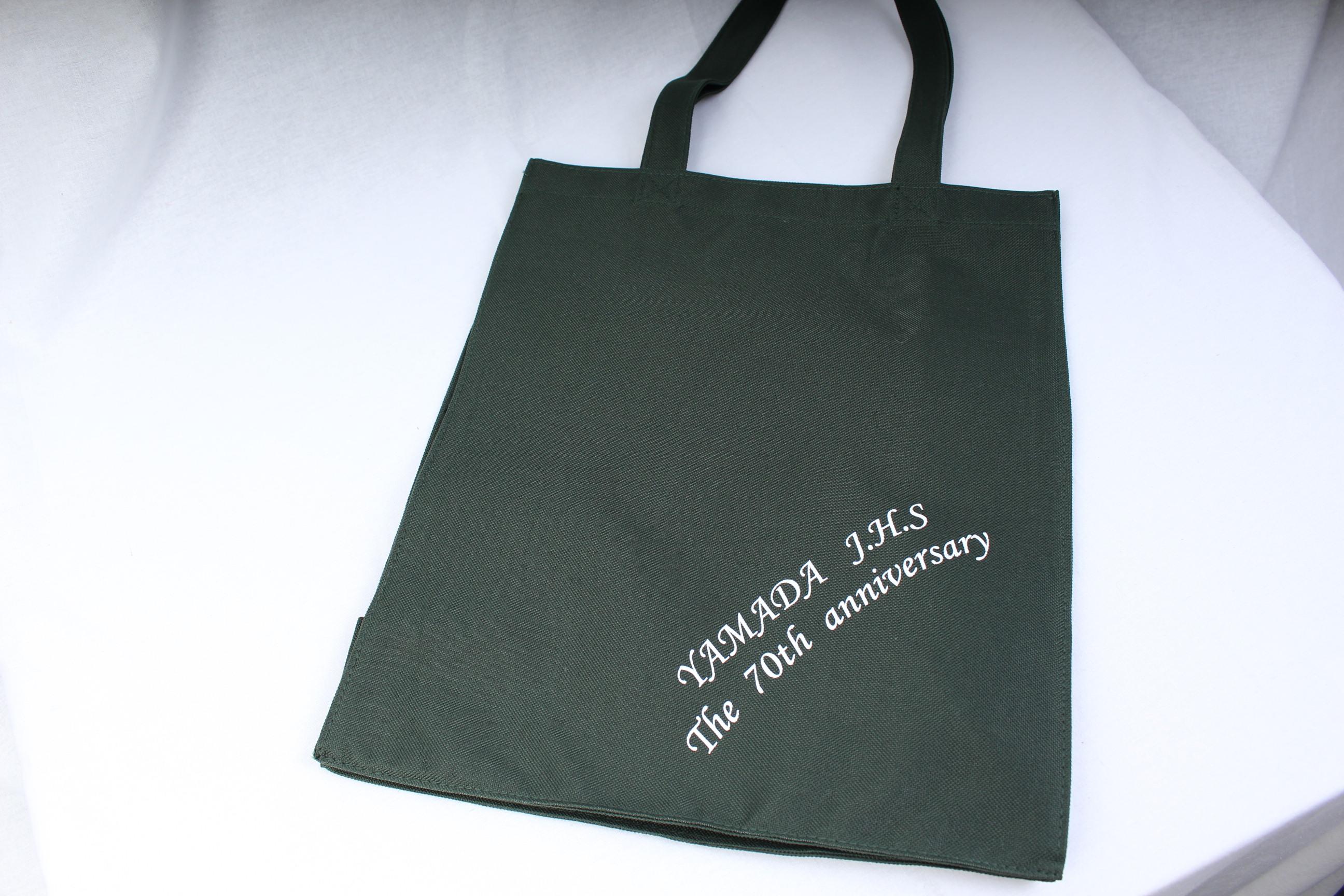 大阪府の市立中学校様のオリジナルトートバッグ