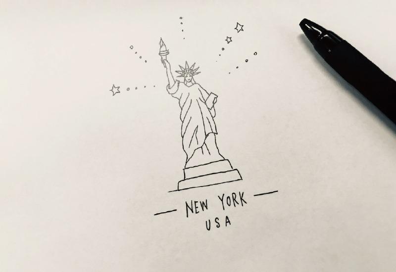 こんな手描きのイラストが...